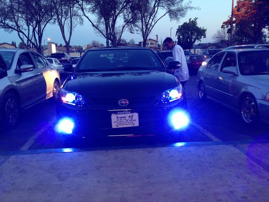 blue fog lights
