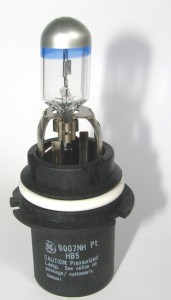 NightHawk Platinum Halogen Headlight Bulb Closeup