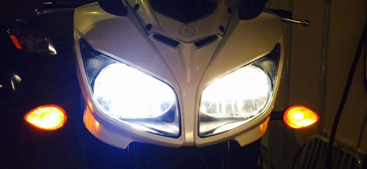 PIAA Xtreme White Bulbs in Yamaha FZ1