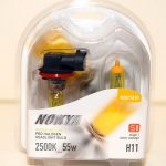 Nokya H11 Arctic Hyper Yellow Stage 1 2500K Halogen Headlight / Fog Light Bulb