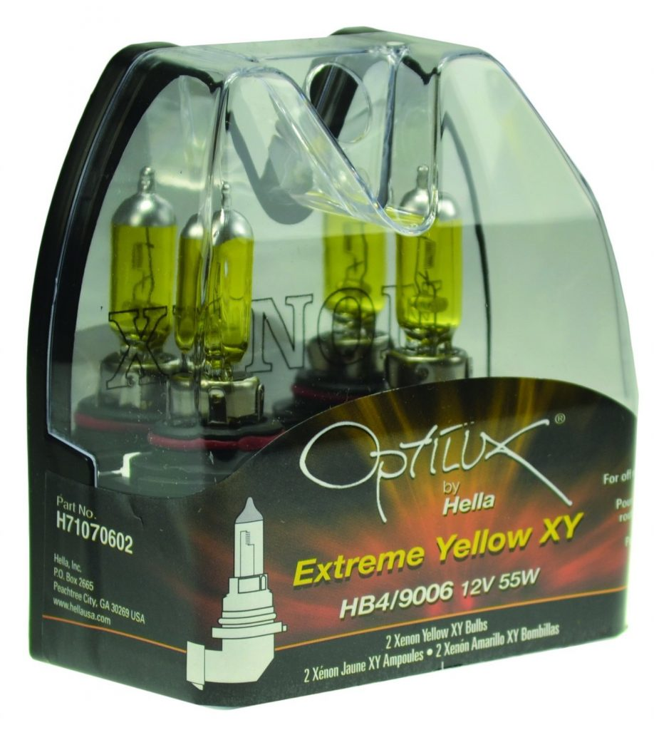 optilux yellow fog light bulbs