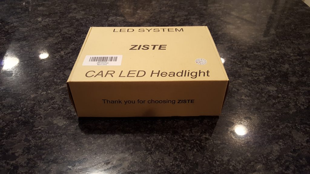 ziste led headlight bulb conversion kit box