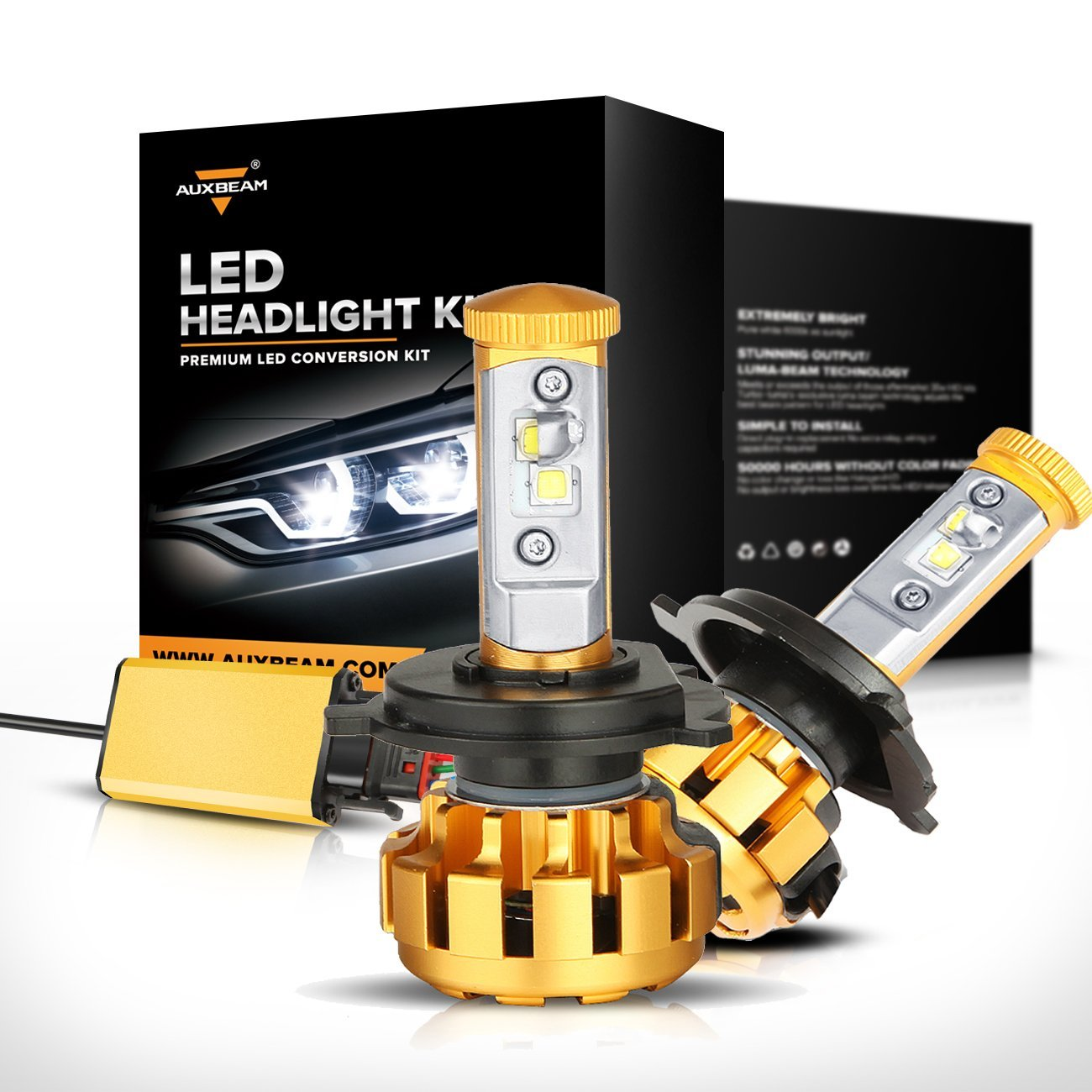 Auxbeam LED Headlight Conversion Kit 6 brightest led headlight bulbs 2017 best headlight bulbs  at gsmx.co