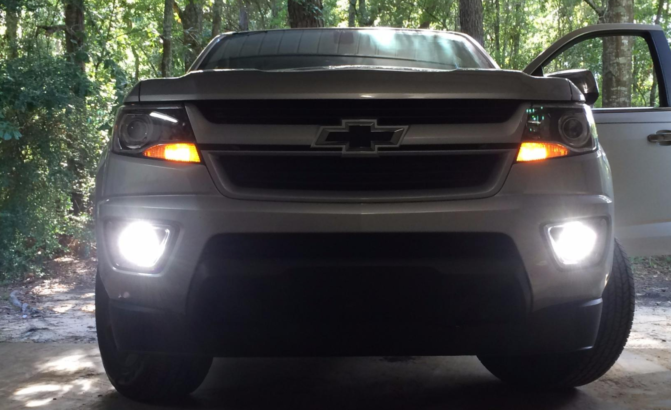 OPT 7 CREE LED Fog Light Kit on Chevy Colorado