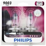 Philips VisionPlus Replacement Halogen Headlight Bulb
